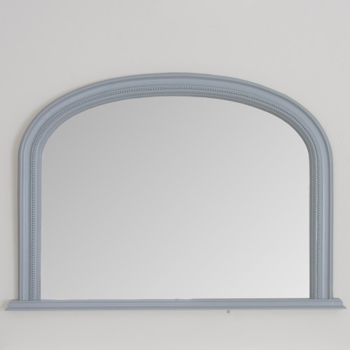 Image of Medium Grey Diana Overmantle Mirror