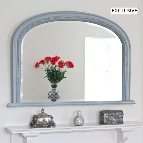 Image of Medium Grey Diana Overmantle Mirror