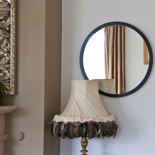 Image of Modern Black Round Mirror