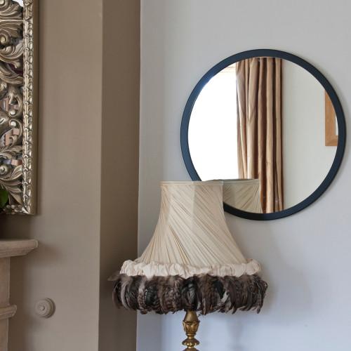 Image of Modern Black Round Mirror