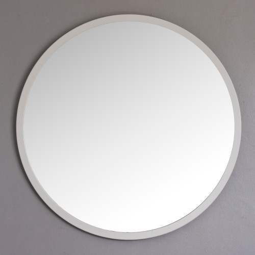 Image of Modern Light Grey Round Mirror