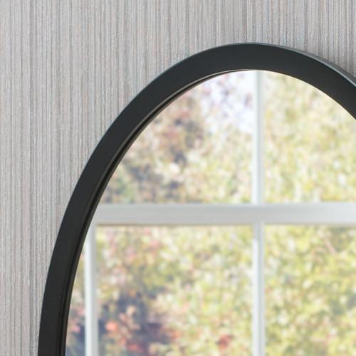 Image of Modern Oval Black Mirror