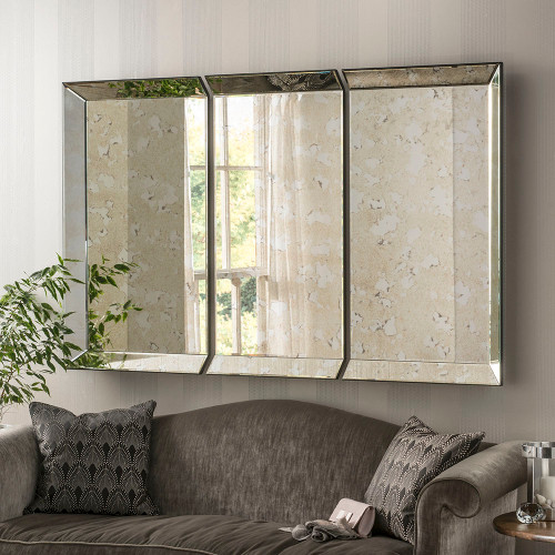 Image of clermont antiqued panel mirror
