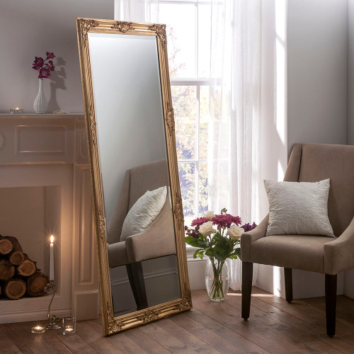 Ornamental Gold Dressing Mirror
