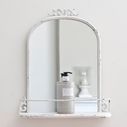 Image of Petite French Metal Mirror