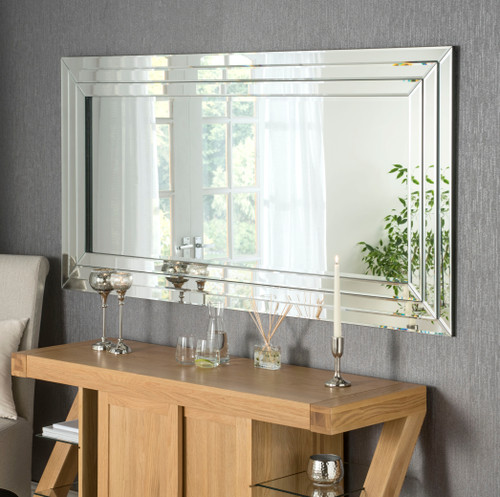Image of black edged mirror