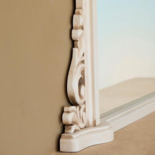 Image of  Victoria Ivory Overmantle Mirror