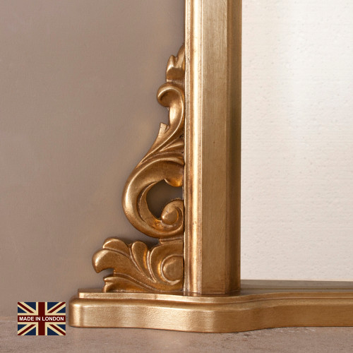 Image of Victoria Antiqued Gold Overmantle