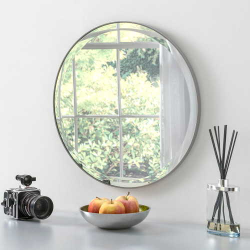 Image of minimal grey mirror