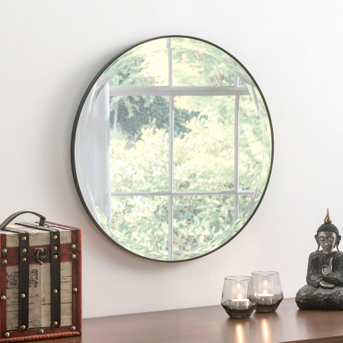 Image of Minimal round Black Mirror