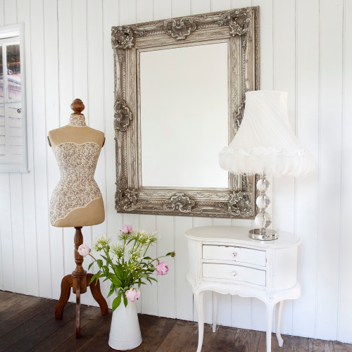 Image of Silver Adorned Mirror