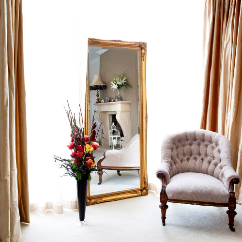 Image of Simple Classic French Gold Mirror