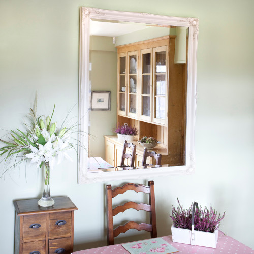 Image of Simple Classic French Ivory Mirror
