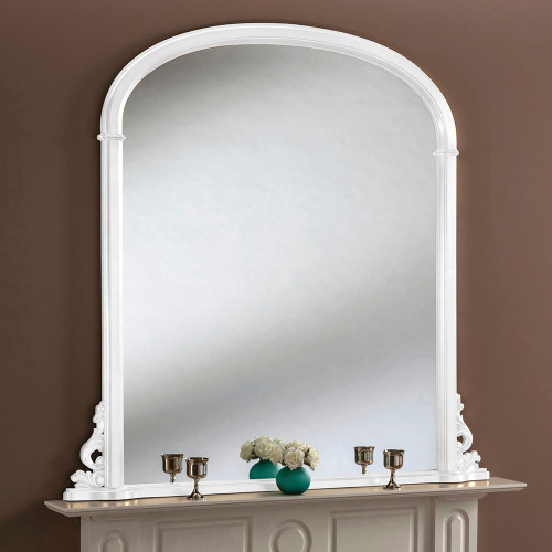 Sophia White Overmantle Mirror 127cm X 127cm