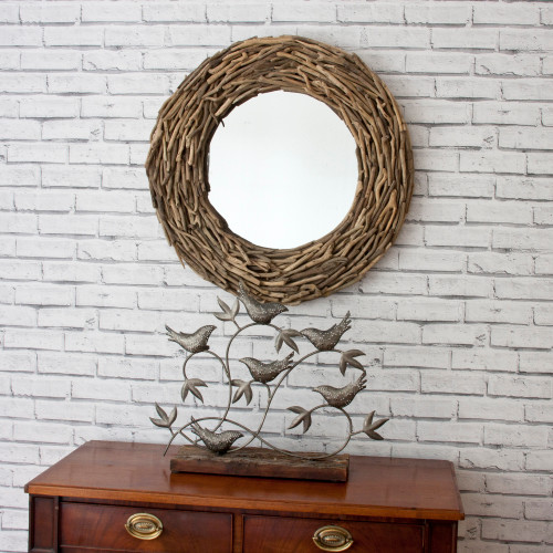 Image of Twiggy Round Twig Mirror