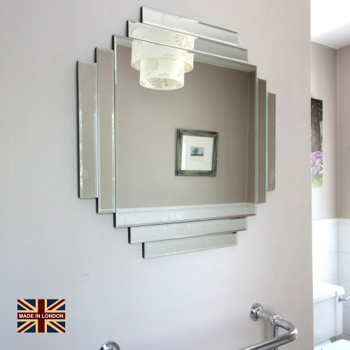 Image of UK Made Art Deco Glass Mirror