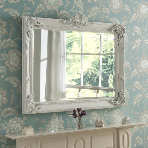 Image of White Flourish mirror