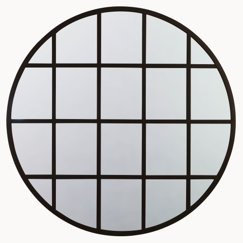 Image of Brookby Beveled Iron Grid Mirror