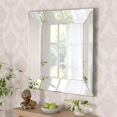 Image of Venetian Tray Mirror 91x91cm