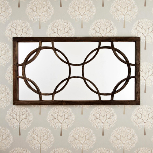 Image of Wooden Medieval Mirror
