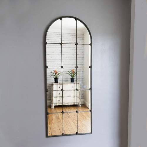 Image of Ava Sectioned Metal Window Mirror