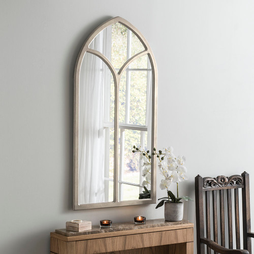 Image of Champagne Framed arch mirror