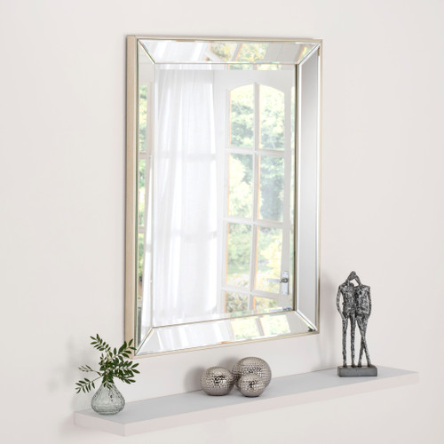 Image of Davina Contemporary rectangular mirror
