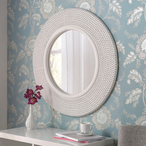 Image of Lucia white mirror