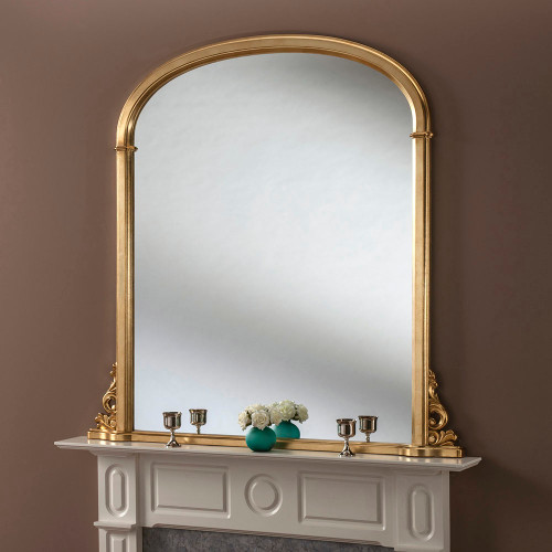Image of Sophia Gold Mantle Mirror
