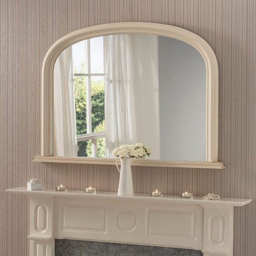 Image of ivory  arched overmantle