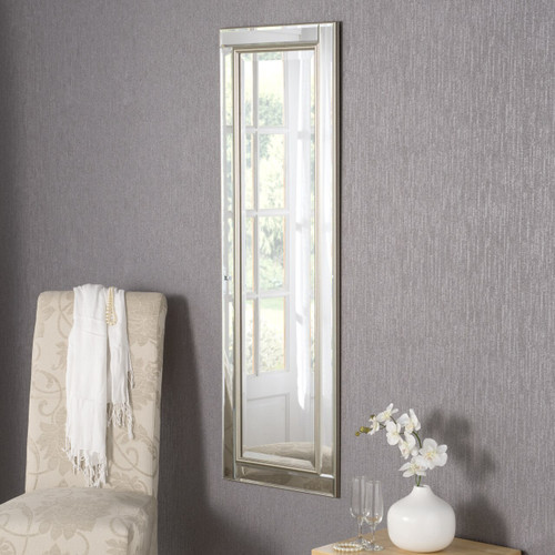 Image of Demelza All-Glass Silver Mirror