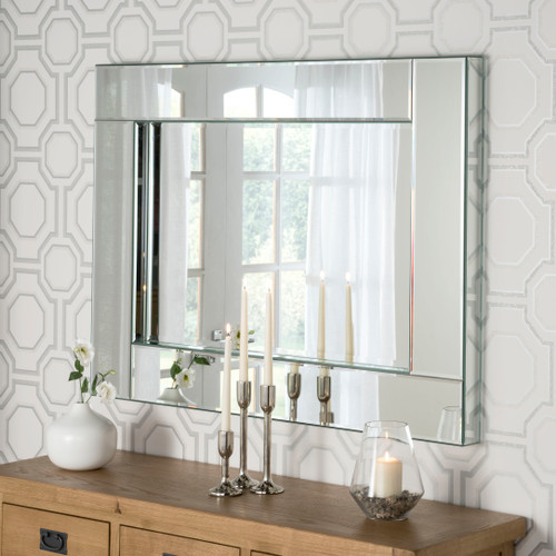 Image of all  glass mirror
