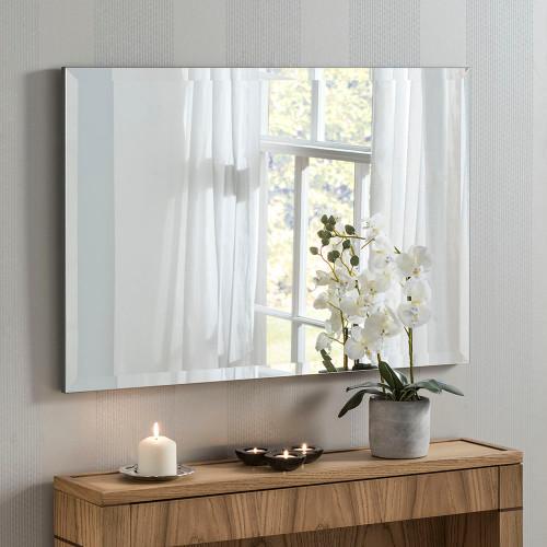 Image of belgravia minimal rectangular wall mirror