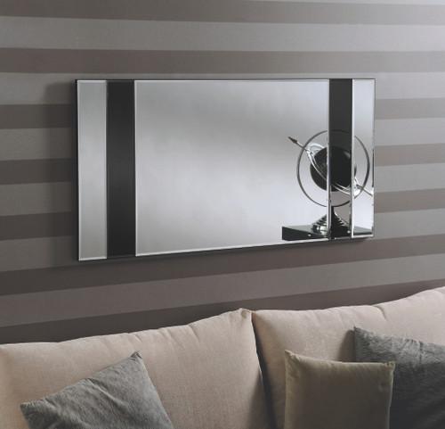image of Grove Black contemporary mirror