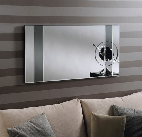 image of Grove grey contemporary mirror