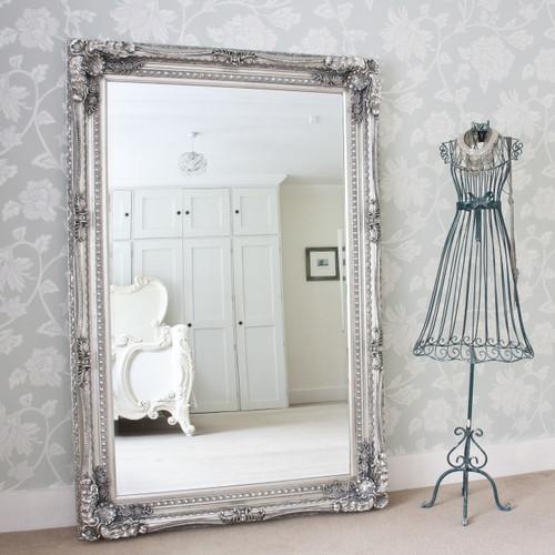 Grand Silver Floor Mirror