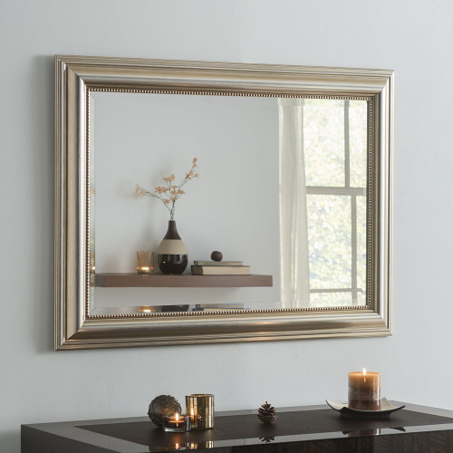 Image of Franz Champagne Silver Rectangular Mirror