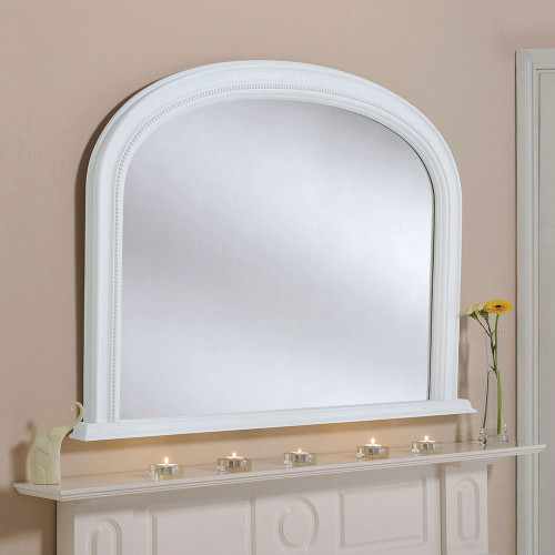 White Diana Overmantle Mirror