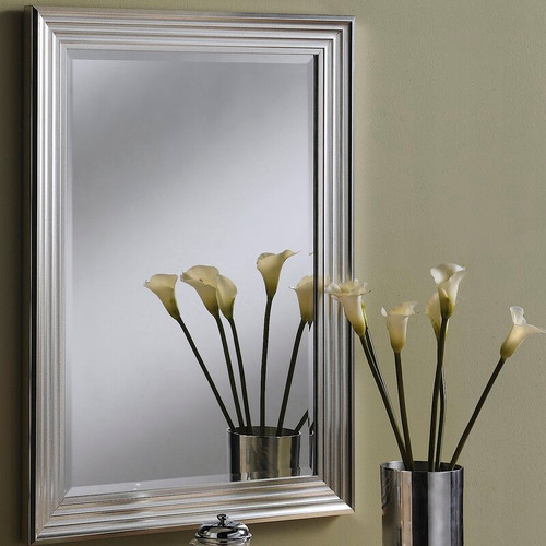 Ribbed Silvery Champagne mirror 205x100cm