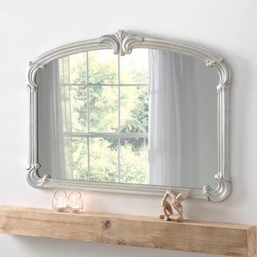 Regent Mantle Mirror Silver 122x89cm