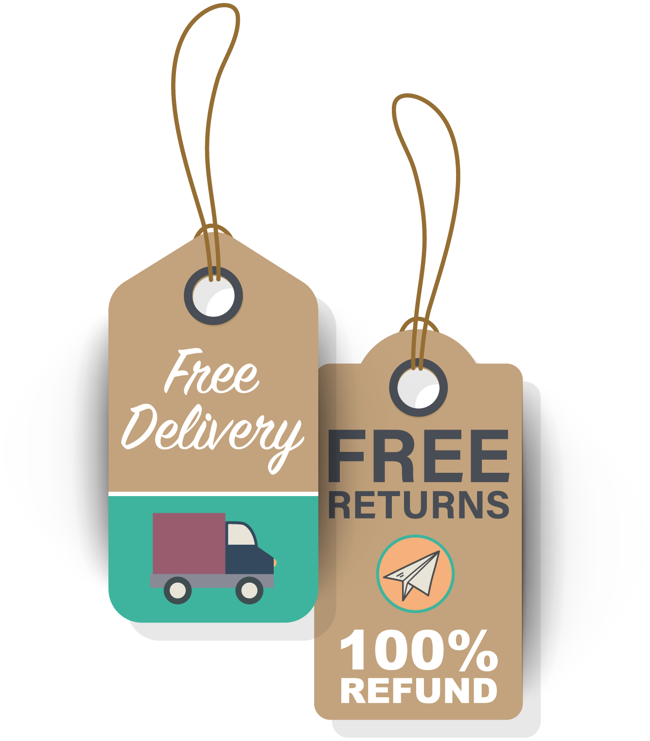Free Delivery Free Return Tags
