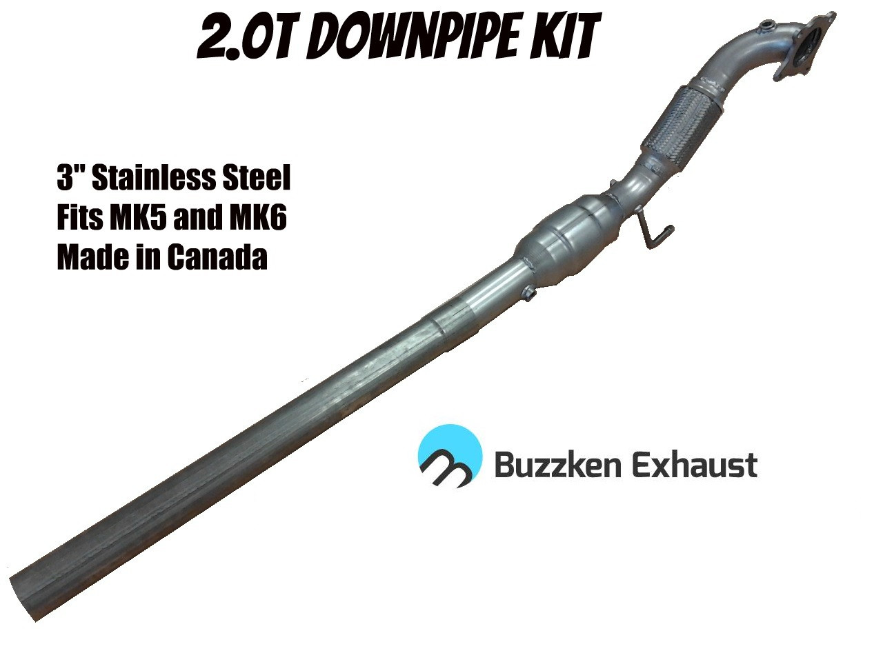 "3"" Downpipe for MK5/6 - 2.0T (2.0T-DP-Buzz)"