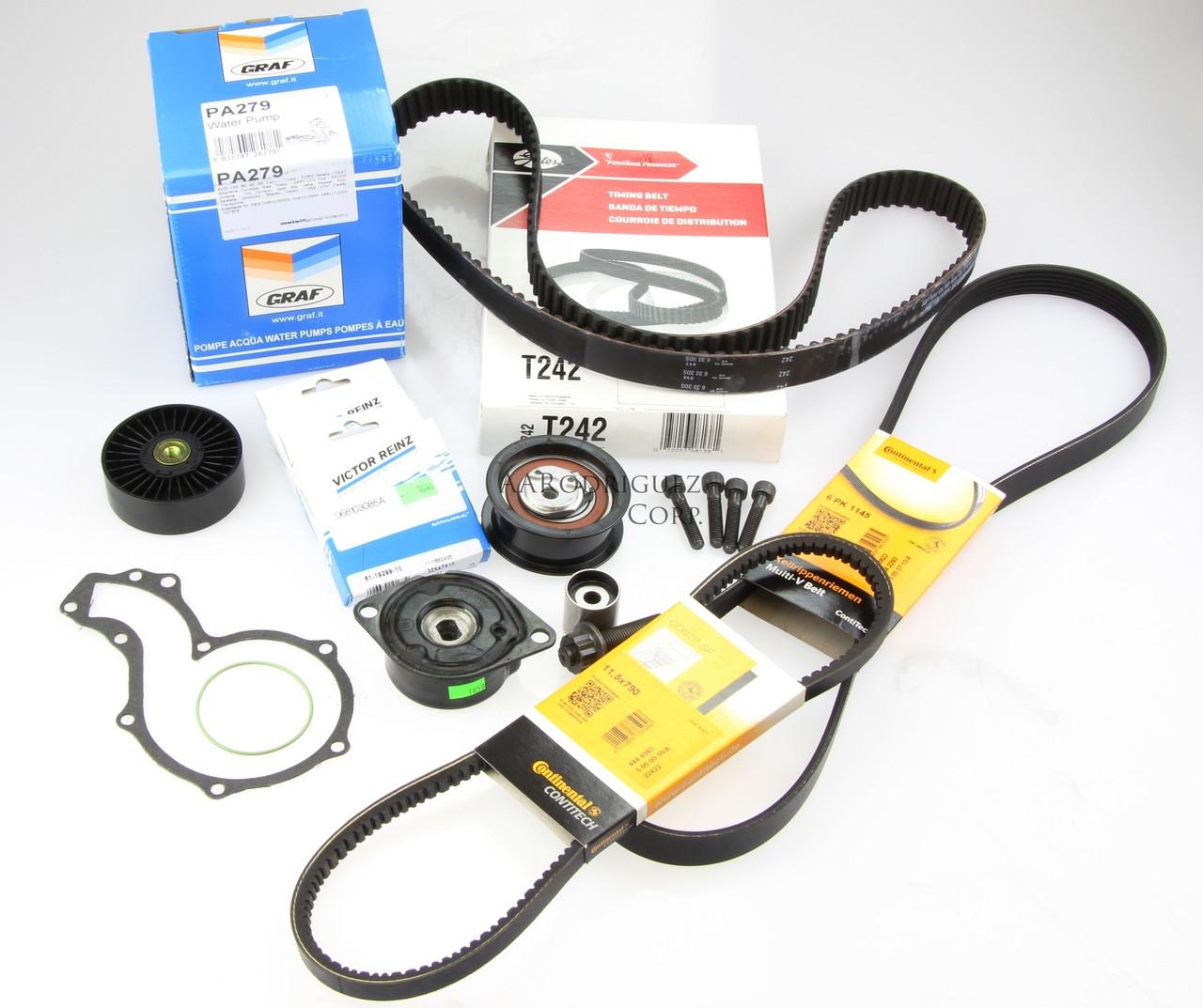 MK3 & B4 Deluxe Timing Belt Kit '96-98 TDI -  1Z AHU TDI 60k Rating (AAR1458)