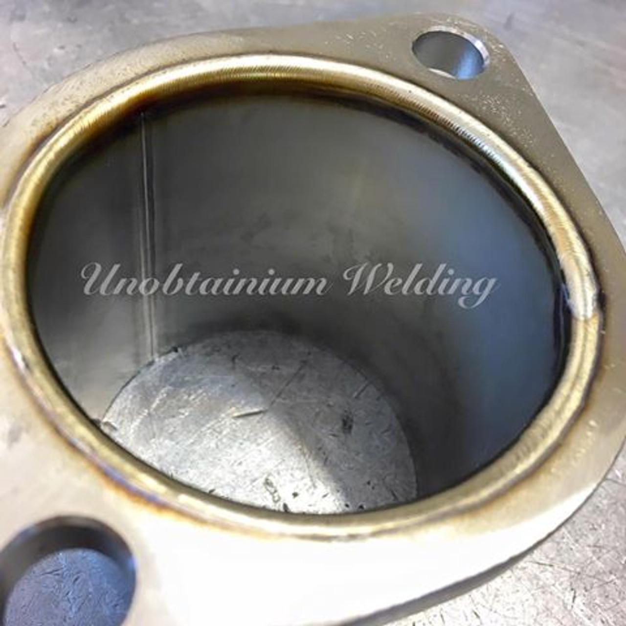 """BMW 335D Downpipe - 3.5"""" - Unobtainium (UTW-2) - more welding pics"""