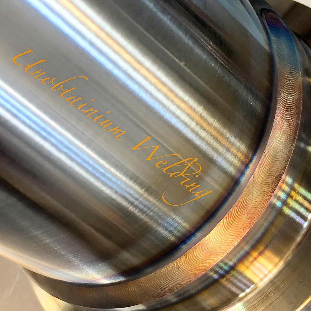 """BMW 335D Downpipe - 3.5"""" - Unobtainium (UTW-2) - weld quality"""