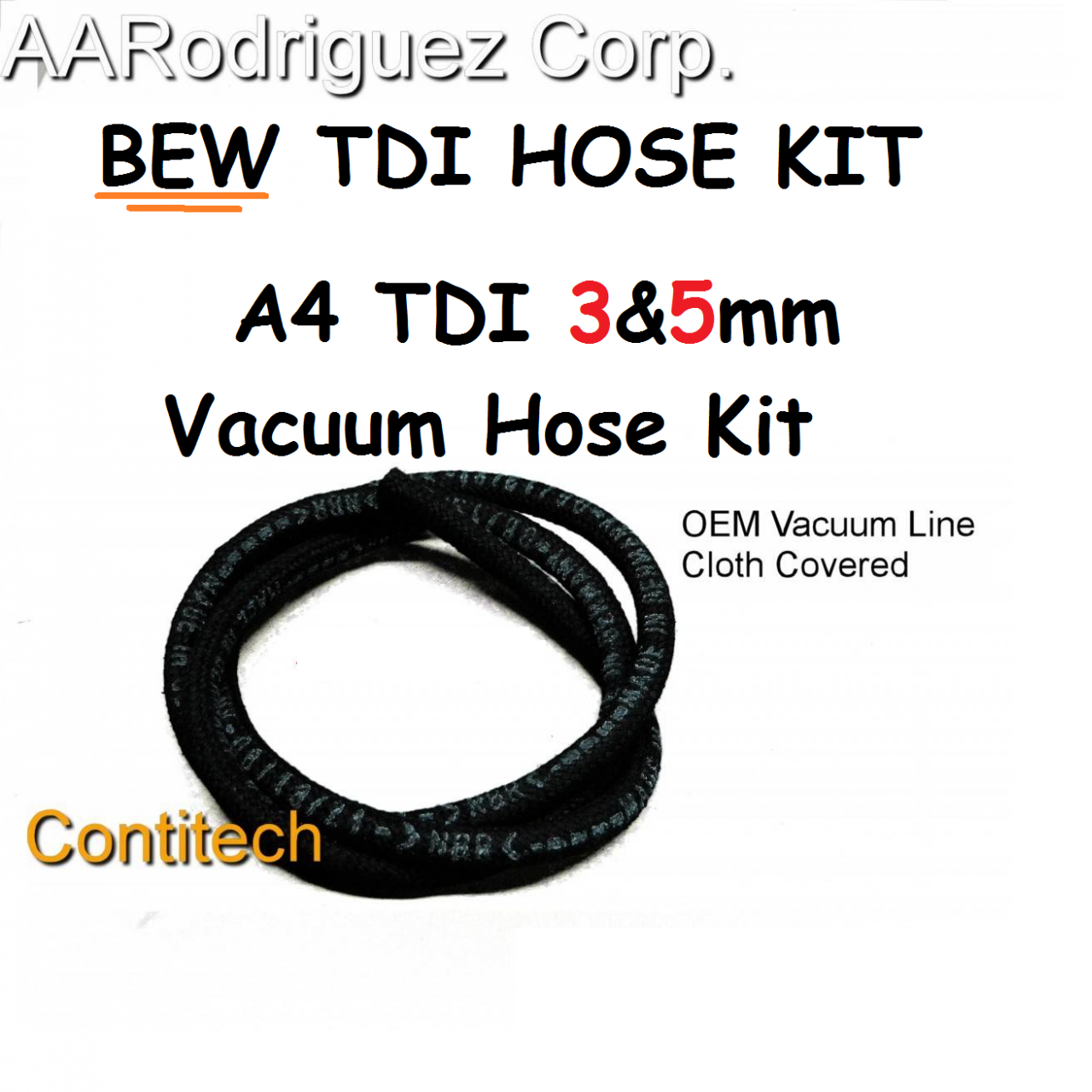 Vacuum Hose Kit for VW BEW TDI Diesel Engines