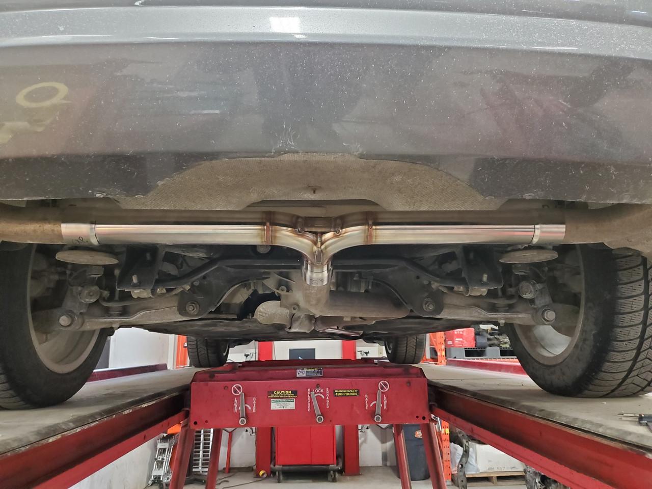 304 Stainless Steel Muffler Delete Kit for X5 DIESEL - E70 and F15 -4