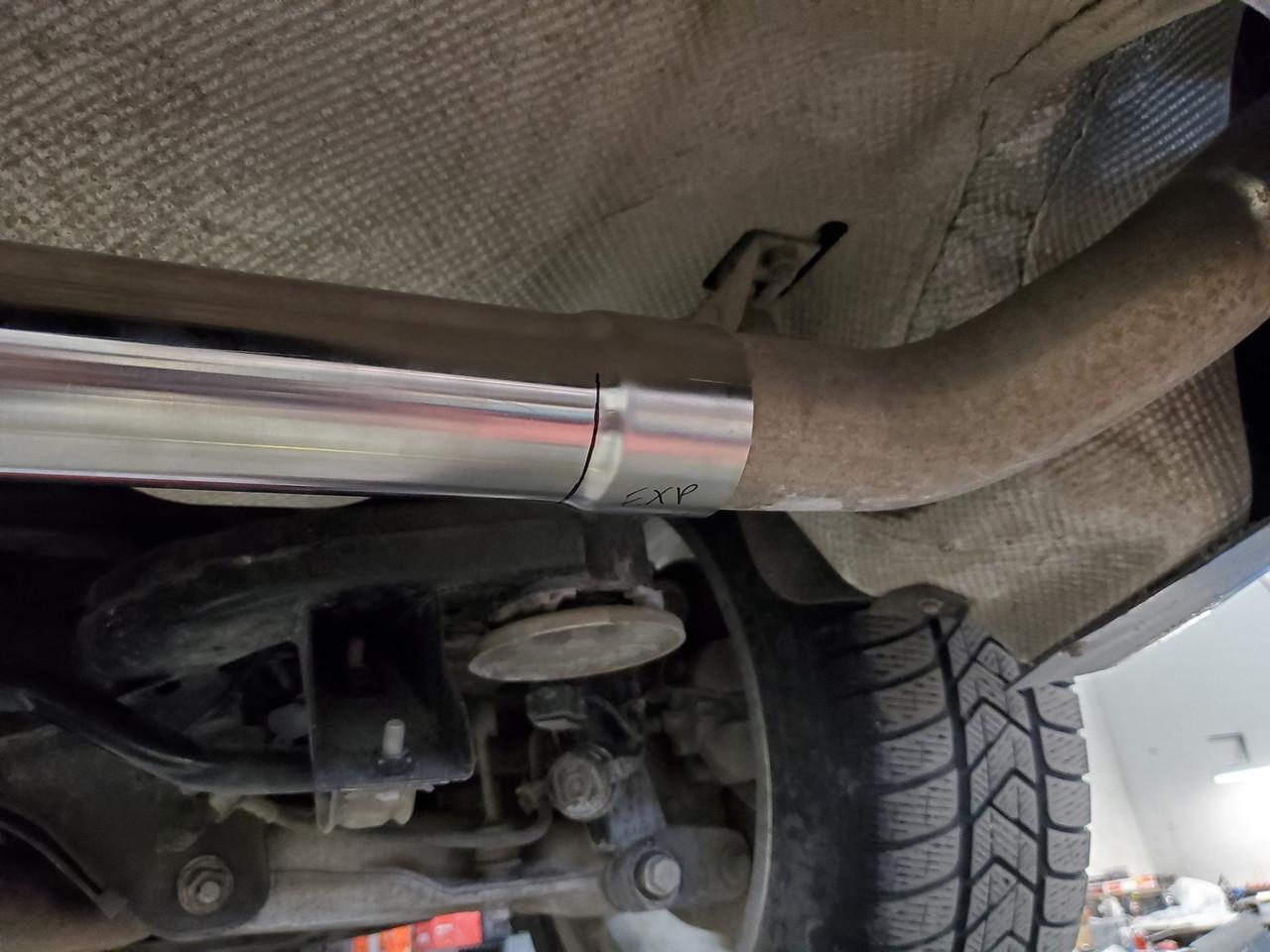 304 Stainless Steel Muffler Delete Kit for X5 DIESEL - E70 and F15 -5