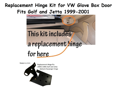 A collection of VW Glove Box repair kits