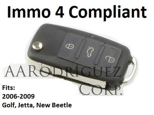MK5 Key FOB - Genuine VW - 5K0-837-202-R - Golf/Jetta/New Beetle (5K0837202R)